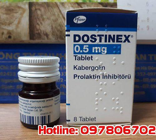 Thuốc Dostinex điều trị prolactin cao, thuốc Dostinex 0,5mg mua ở đâu, thuốc Dostinex 0.5mg giá bao nhieu