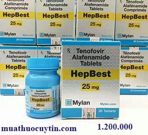 Giá thuốc Hepbest 25mg mua ở đâu bán giá bao nhiêu chính hãng