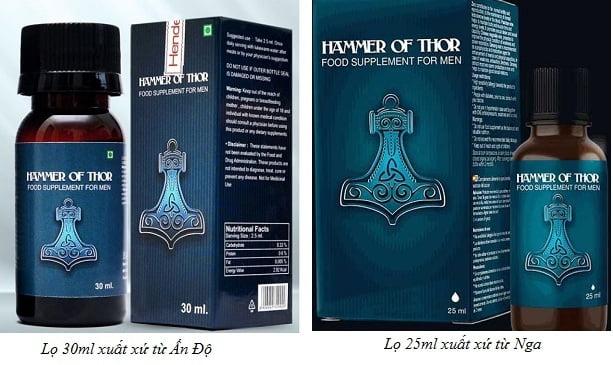 Thuốc Hammer Of thor chính hãng của Ấn Độ và Nga