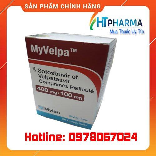 thuốc Myvelpa điều trị viêm gan C giá bao nhiêu mua ở đâu