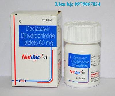 Thuốc Natdac 60mg mua ở đâu, thuốc Natdac 60mg giá bao nhiêu