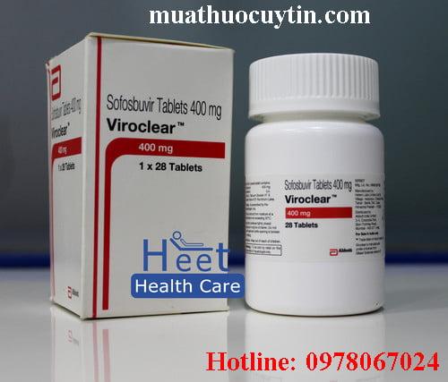 Giá thuốc Viroclear 400mg mua ở đâu bán giá bao nhiêu Hà Nội TPHCM