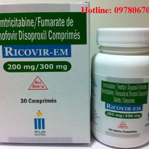 Thuốc ricovir em 300mg 200mg giá bao nhiêu, thuốc ricovir em mua ở đâu