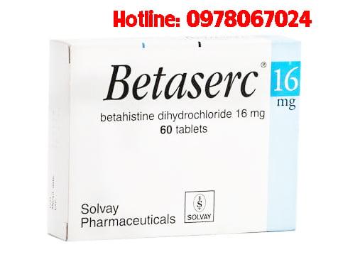 Thuốc Betaserc 16mg giá bao nhiêu, thuốc Betaserc 16mg mua ở đâu, thuốc Betaserc điều trị bệnh gì