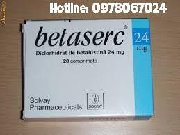 Thuốc Betaserc 24mg giá bao nhiêu, thuốc Betaserc 24mg là thuốc gì mua ở đâu, thuốc Betaserc 24mg trị bệnh gì
