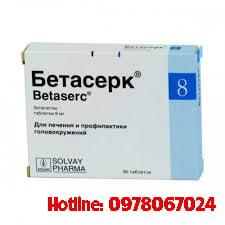 Thuốc Betaserc 8mg giá bao nhiêu, thuốc Betaserc 8mg mua ở đâu