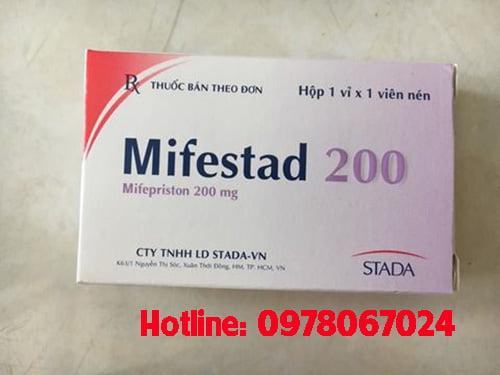 Thuốc Mifestad 200mg giá bao nhiêu, thuốc Mifestad 10mg mua ở đâu