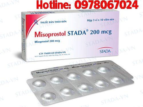 thuốc Misoprostol 200mcg stada giá bao nhiêu, thuốc misoprostol 200mcg mua ở đâu