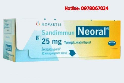 Thuốc Sandimmun neoral 25mg giá bao nhiêu, thuốc sandimmun neoral 100mg mua ở đâu
