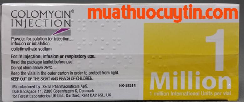 Thuốc Colomycin Injection mua ở đâu