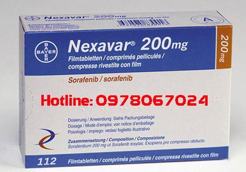 Thuốc Nexavar 200mg giá bao nhiêu, thuốc Nexavar 200mg mua ở đâu