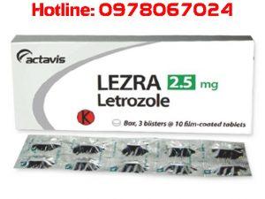 Thuốc Lezra 2.5mg là thuốc gì, thuốc lezra 2.5mg mua ở đâu thuốc Lezra giá bao nhiêu có tác dụng gì đối với ung thư vú