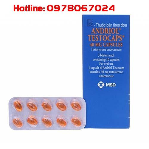 Thuốc Androil testocaps 40mg là thuốc gì, thuốc Androil Testocaps 40mg mua ở đâu, giá bao nhiêu có tác dụng gì