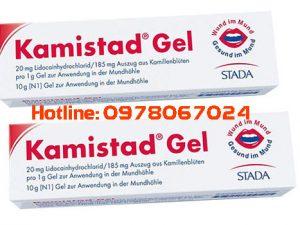 Thuốc Kamistad gel giá bao nhiêu, thuốc nhiệt miệng kamistad, sử dụng để bôi lỡ loét miệng