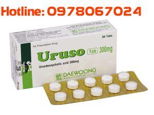 Thuốc Uruso 200mg mua ở đâu, thuốc uruso 300mg giá bao nhiêu, thuốc lợi mật bổ gan