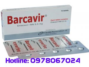 thuốc barcevir 0.5mg giá bao nhiêu, thuốc barcavir 0.5mg mua ở đâu