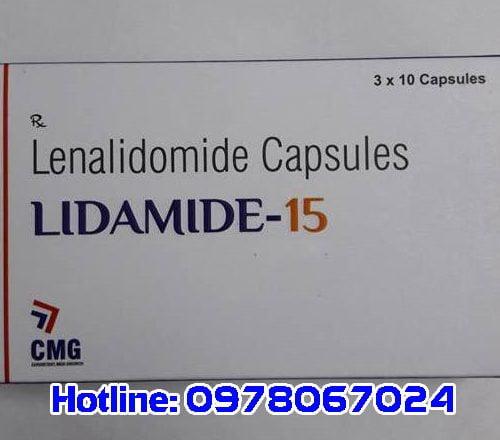 thuốc Lidamide giá bao nhiêu, thuốc Lidamide 15 mua ở đâu