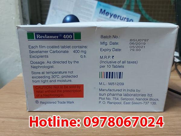 công dụng thuốc Sevelamer Carbonate
