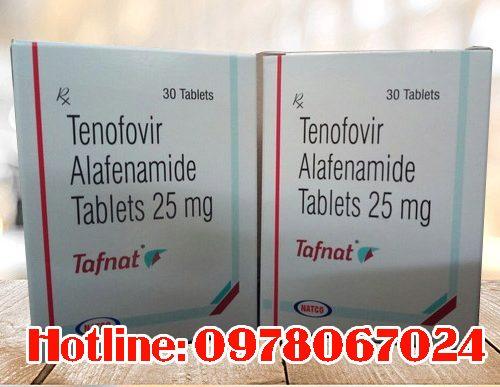 thuốc Tafnat chứa hoạt chất Tenofovir Alafenamide 25mg giá bao nhiêu mua ở đâu chính hãng Natco