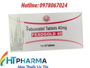 thuốc Fexogold 40mg 80mg Febuxostat giá bao nhiêu mua ở đâu chính hãng