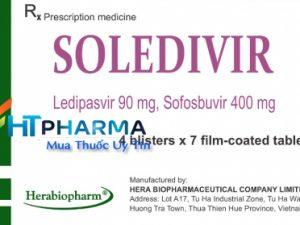 thuốc soledivir hoạt chất Ledipasvir 90mg Sofosbuvir 400mg điều trị viêm gan C