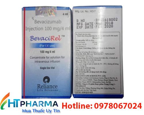 Thuốc Bevacirel 100mg/4ml Bevacizumab là thuốc gì? có tác dụng gì? thuốc Bevacirel giá bao nhiêu mua ở đâu chính hãng