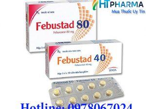 thuốc febustad 40mg và 80mg Febuxostat giá bao nhiêu mua ở đâu chính hãng