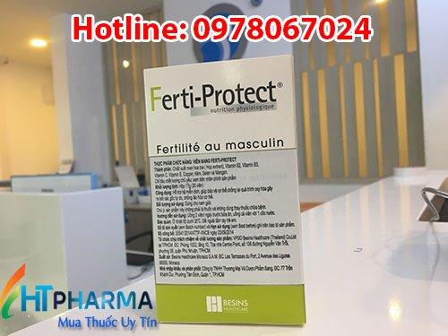 thuốc ferti protect giá bao nhiêu mua ở đâu chính hãng, công dụng bổ tinh trùng yếu