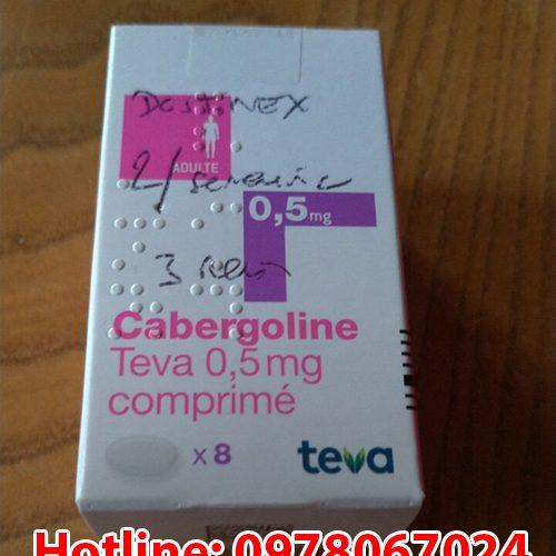 thuốc Cabergoline Teva 0.5mg là thuốc gì, giá bao nhiêu mua ở đâu chính hãng. Thuốc điều trị prolactin cao của Pháp