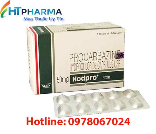 Thuốc Hodpro 50mg Procarbazine là thuốc gì, giá bao nhiêu, có tác dụng gì, công dụng thuốc Hodpro 50mg điều trị ung thư Hodgkin