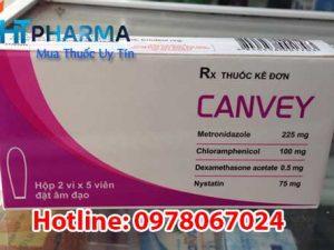 thuốc canvey đặt phụ khoa giá bao nhiêu, mua ở đâu, có tác dụng gì, công dụng thuốc canvey