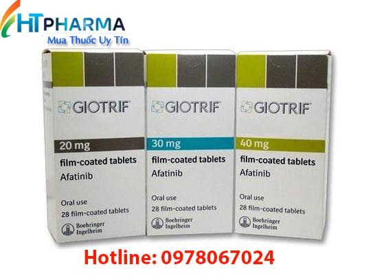 thuốc Giotrif là thuốc gì? giá bao nhiêu? mua ở đâu? công dụng thuốc Afatinib 40mg