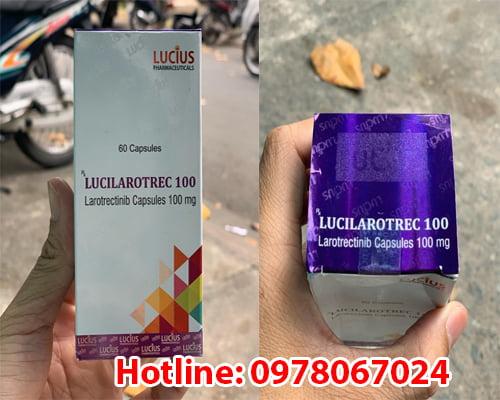 thuốc Lucilarotrec 100mg larotrectinib là thuốc gì, có tác dụng gì, thuốc Lucilarotrec giá bao nhiêu mua ở đâu