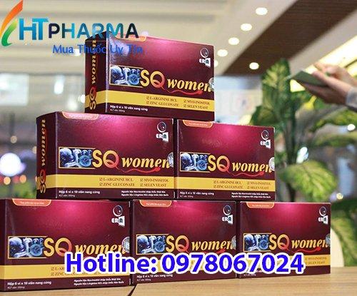 thuốc sqwomen giá bao nhiêu tiền, mua ở đâu, công dụng tăng khả năng sinh sản cho phụ nữ hiếm muộn