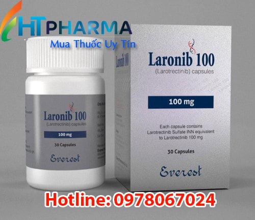 thuốc laronib 100mg larotrectinib là thuốc gì? có tác dụng gì? công dụng thuốc laronib giá bao nhiêu mua ở đâu