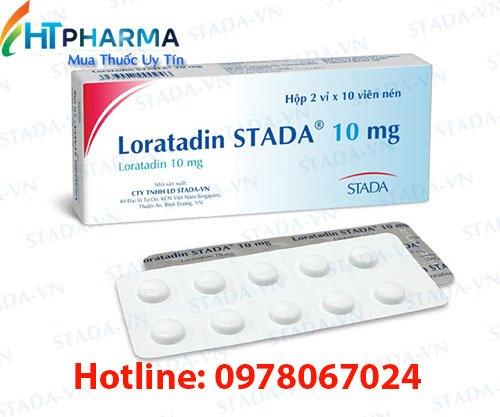 thuốc Loratadin stada 10mg là thuốc gì? có tác dụng gì? công dụng thuốc Loratadin stada 10mg giá bao nhiêu mua ở đâu