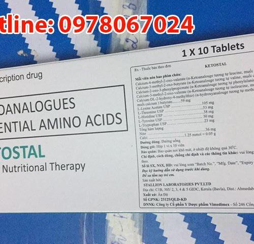 thuốc ketostal là thuốc gì? có tác dụng gì? công dụng của thuốc đạm thận Ketostal giá bao nhiêu mua ở đâu