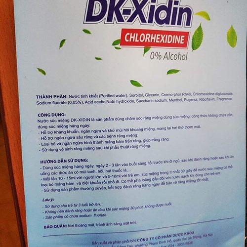 nước súc miệng dk-xidin giá bao nhiêu mua ở đâu chính hãng