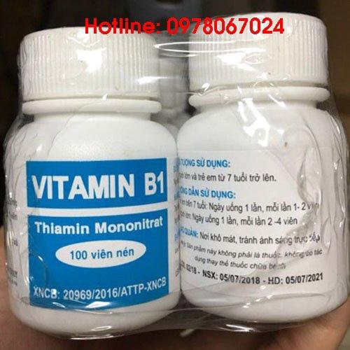 vitamin b1 lọ 100 viên giá bao nhiêu mua ở đâu