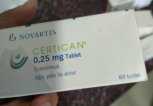 thuốc certican giá bao nhiêu mua ở đâu
