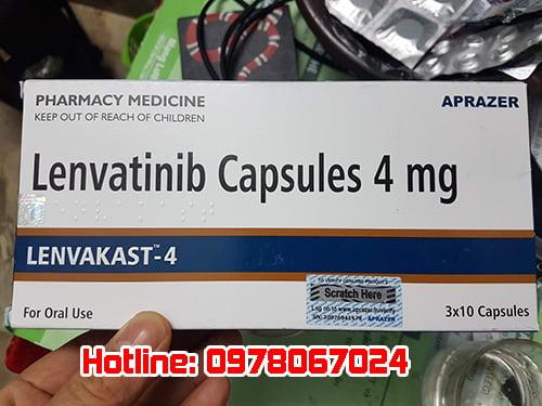 thuốc lenvakast điều trị ung thư, thuốc được mua ở đâu giá bao nhiêu chính hãng