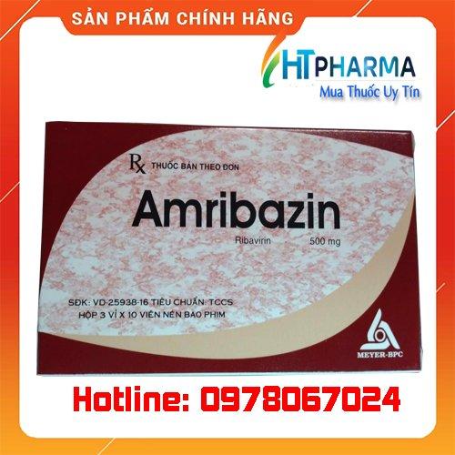 thuốc Amribazin 500 Ribavirin là thuốc gì? giá bao nhiêu? mua ở đâu chính hãng