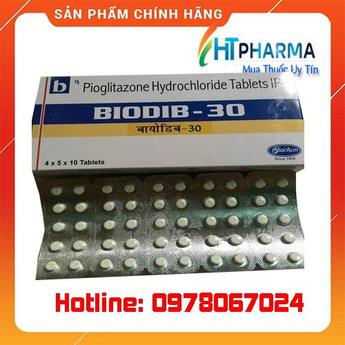 thuốc Biodib 30 là thuốc gì? giá bao nhiêu mua ở đâu chính hãng