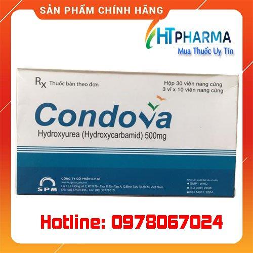 Thuốc condova 500mg Hydroxycarbamide là thuốc gì? giá bao nhiêu? mua ở đâu