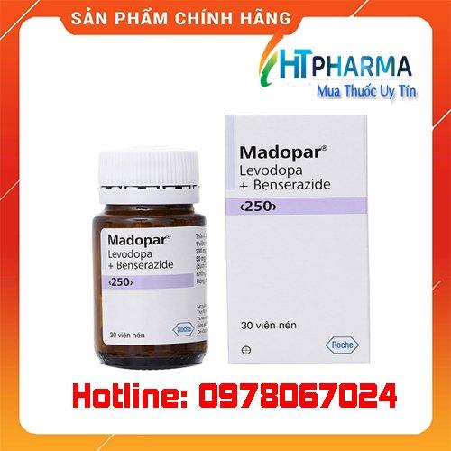 Thuốc Madopar 250mg là thuốc gì? giá bao nhiêu? mua ở đâu chính hãng