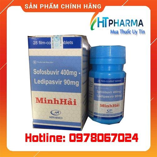 thuốc Sofosbuvir 400mg Ledipasvir 90mg Minh Hải giá bao nhiêu mua ở đâu chính hãng