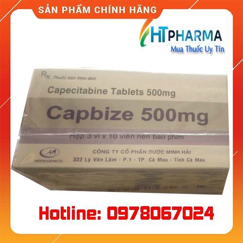 Thuốc Capbize 500mg là thuốc gì? giá bao nhiêu? mua ở đâu chính hãng