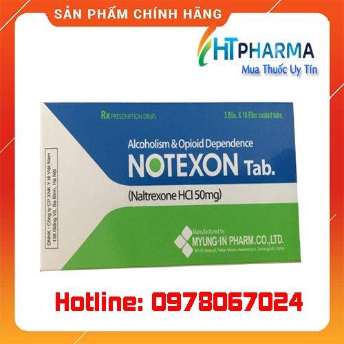 thuốc notexon là thuốc gì? giá bao nhiêu mua ở đâu chính hãng