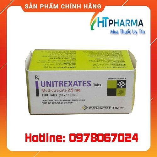 thuốc Unitrexates tabs điều trị ung thư, viêm khớp giá bao nhiêu mua ở đâu chính hãng