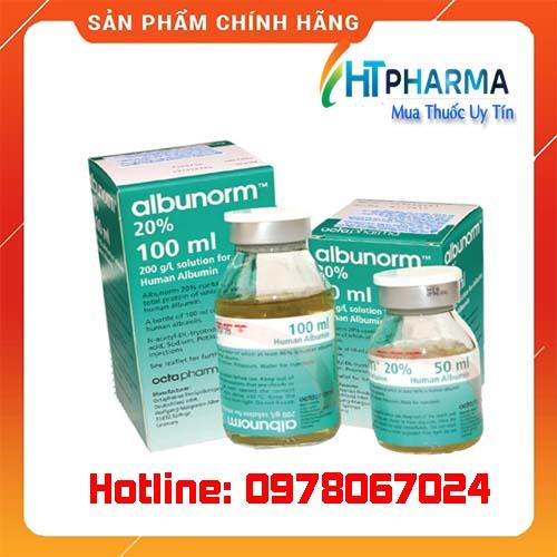 thuốc albunorm 20% giá bao nhiêu mua ở đâu chính hãng
